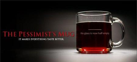 pessimist's mug