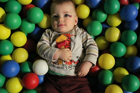 Lewis in a ball pool